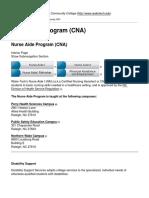 Nurse Aide Program (CNA)