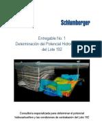 Determinación del Potencial Hidrocarburífero del Lote 192 Consultoría