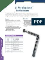 Sling Psychrometer