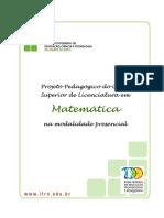 Licenciatura Em Matematica 2012