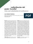 15. Crisis y Redistribucion Del Poder Mundial TOKATLIAN Dic 2012