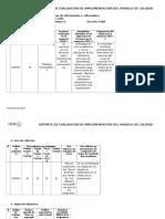 Reporte de Evaluación e Implementación Del Modelo de Calidad