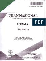 Naskah Soal UN Matematika SMP 2015 Paket 1.pdf