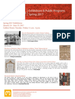 Spring 2017 Programs and Exhibitions
