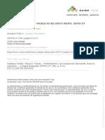 Dostie, d. Pusch 2007 Les Marqueurs Discursifs. Sens Et Variation