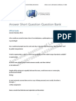 Answer Short Questions Question Bank