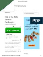 India at the 2016 Summer Paralympics