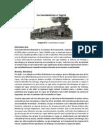 Locomotoras a Vapor - Síntesis