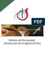 declaración de fe iglesia de Dios