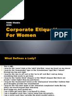 Corporate Etiquette for Women