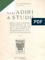 Studii Si Proiecte Petre Antonescu 1