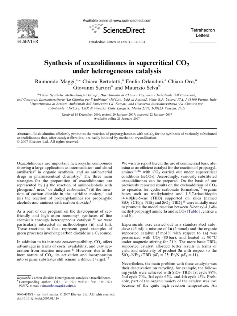 1-s2 0-S0040403907001682-main   Catalysis   Chemical Reactions
