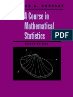 A Course in Mathematical Statistics. George G. Roussas