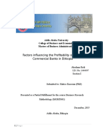 Factors Affecting the Profitability of Private Commercial Banks In Ethiopia
