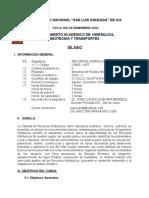SILABUS RECURSOS HIDRAULICOS