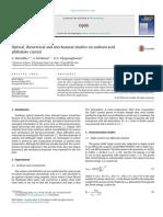 Optik - International Journal for Light and Electron Optics Volume 125 Issue 10 2014 [Doi 10.1016%2Fj.ijleo.2014.01.008] Marudhu, G.; Krishnan, S.; Vijayaraghavan, G.v. -- Optical,