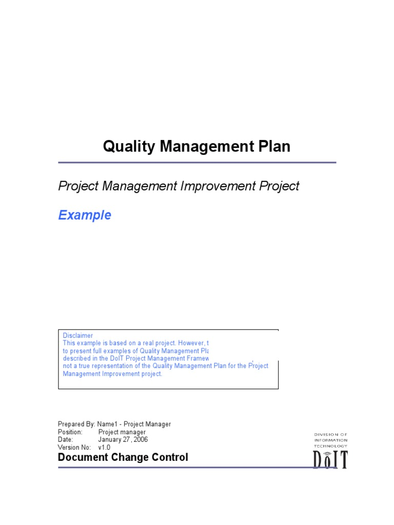 Complete Project Management Plan Example from imgv2-2-f.scribdassets.com