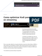 Como Optimizar Kodi Para Vídeos en Streaming