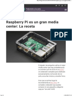 Raspberry Pi Es Un Gran Media Center- La Receta