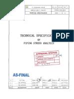 201485-37000-MC04 - PI Spec Piping Stress Analysis
