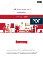 Mvp Academy Activity Report