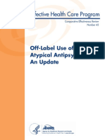 Off- Label Use of Atypical Neuroleptics
