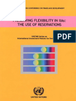 Preserving Flexibility in IIAs-The Use of Reservations