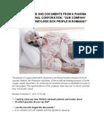 Engleza Mărturii Și Documente Dintr-o Multinațională Pharma (4 Files Merged)