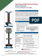 HV Divider Dvr150_brochure