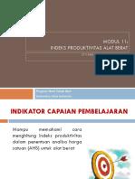 Indeks Produktivitas Alat Berat