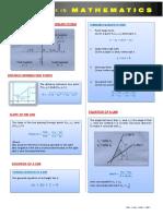 Analytic Geometry Formulas