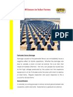 15 O&M Issues in Solar Farms
