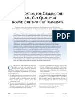 A Foundation for Grading the Overall Cut Quality of Round Brilliant Cut Diamonds