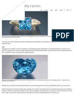 GIA, Aquamarine Quality Factors