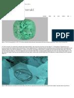 Unique Drilled Emerald _ Gems & Gemology