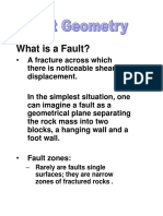 Fault Geometry