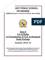 Doc 1082 B.P.S. X S.a. II Maths I.I.T.foundation N.T.S.E. Olympiad Study Package 2014 15