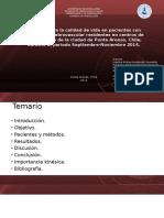 Estudio sobre la calidad de vida en pacientes con accidente cerebrovascular