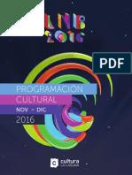 Programa Cultura 2016 NOV DIC 1