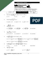 Math_2Y_Indefinite Integration_Chapter test.doc