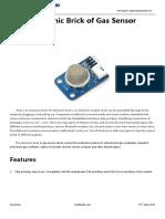 MQ 2 Gas Sensor Brick Datasheet