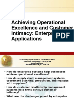 Achieving Operational Excellence and Customer Intimacy Enterprise Applications