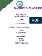Tarea II Gestion Humana Carmelina Medina