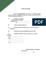 CONVOCATOR comisie metodica