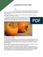 Beneficiile Consumului de Fructe Kaki Persimone