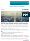 Reducing air pollution begins at home, say the scientist - Horizon magazine.eu, 12 gennaio 2017