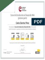 Certificado Desarrollo Web