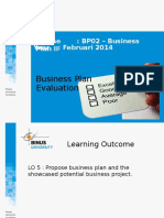 SESI 20 Business Plan Evaluation