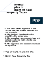 Fundamental Principles in Assesment of Real Property Taxes