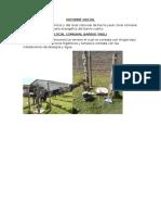 Informe Inicial Barrio Yauli Tercero y Cuarto
